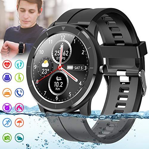 Mahipey Smartwatch,Reloj Inteligente Mujer Hombre Impermeable Con Pulsómetro Presión Arterial Monitor Sueño Smart Watch Pulsera Actividad Deportivo