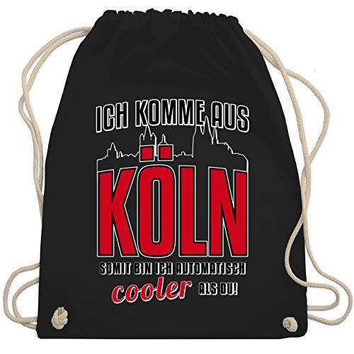 Städte - Ich komme aus Köln - Unisize - Schwarz - turnbeutel köln - WM110 - Turnbeutel und Stoffbeutel aus Baumwolle