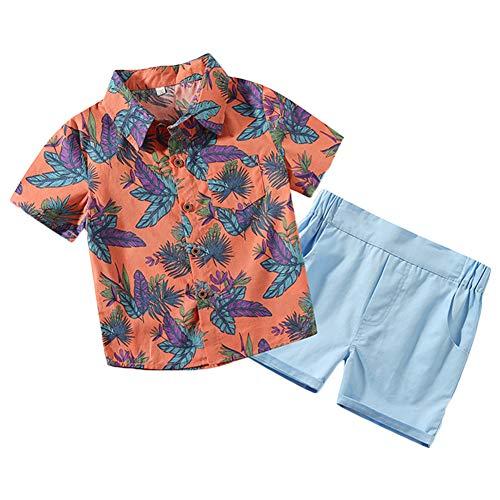 Conjuntos Niño Bebé Ropa Dibujos Animados Imprimir Camisa Tops + Pantalones Cortos Conjuntos 90