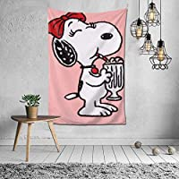 Snoopy Tapestry, Interior, Stylish, Room Decoration, Wall Decor, Art, Popular, Wall Hanging, Decorative, Decorative Supplies, Home, Bedroom, Room, Window Curtain, Scandivian Curtain, Background, Celebration, Gift, Mother's Day, Cold Protection, Multifunctiol
