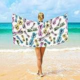 Tedtte Asciugamani da Spiaggia in Microfibra Occhiali da Sole 30 X 60 Pollici