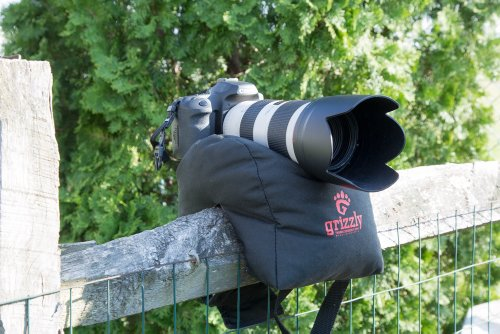 Grizzly Camera Bean Bag Large Black, Photography Bean Bag, Video Bean Bag, Camera Support, Camera Sandbag, Camera Beanbag, Spotting Scope Support, Birders Camera, Safari Equipment, Photography Tours