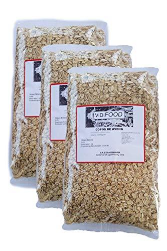 Flocons d'Avoine - 3kg - Nutriments, Vitamines et Minéraux - Excellente Qualité - 100% Naturel et Sans Toxines - Avoine à Grains Entiers - Céréales de Petit Déjeuner - Source de Fibres Délicieuses