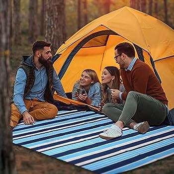 Couverture de pique-nique avec dos imperméable 150 x 200 cm - Tapis de plage pliable pour extérieur - Pour camping, randonnée, voyage, festival