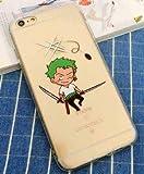 Coquefone Coque iPhone 7 et iPhone 8 Luffy One Piece Roronoa Zoro Manga
