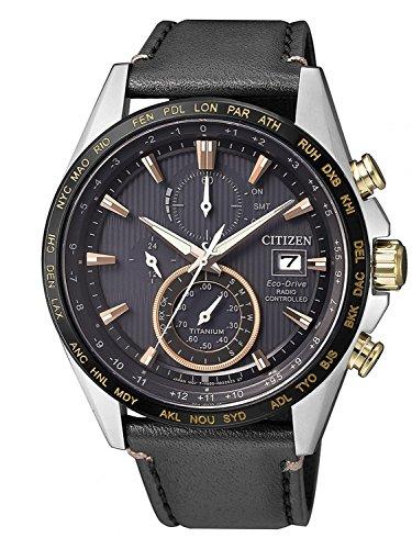 Citizen Herren Chronograph Solar Uhr mit Titan Armband AT8158-14H