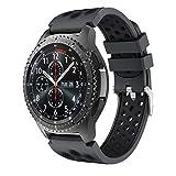 CSVK Compatibile con Cinturino Gear S3 Frontier/Classic/Galaxy Watch 46mm/Galaxy Watch 3 45mm Cinturino, Braccialetto in Silicone Sportivo Cinturino per Huawei Watch GT 2 46mm/Moto 360 2nd Gen 46mm