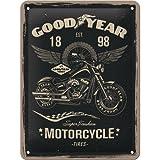 Nostalgic-Art 26224 Goodyear - Motorcycle  | Retro Blechschild | Vintage-Schild | Wand-Dekoration |...