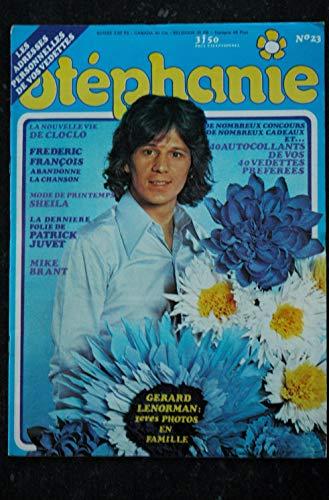 STEPHANIE 023 1974 MIKE BRANT CLAUDE FRANCOIS SHEILA PATRICK JUVET FREDERIC FRANCOIS ALAN OSMOND