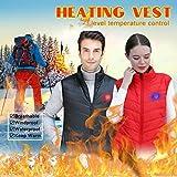 Dasongff Beheizte Weste USB Wiederaufladbar Heizweste Warme Heat Jacke Damen Herren Elektrische Beheizte Jacke Beheizbare Weste für Motorrad Outdoor-Aktivitäten Jagd