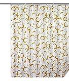 Wenko 19224100 Duschvorhang Bouquet Oro - hochwertiges Textilgewebe, 180 x 200 cm
