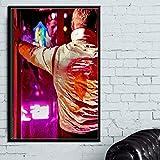 zhuziji Imprimir Lienzo de Pintura Conduciendo la película clásica Ryan Gosling Pared Imprime Regalo Fotos Obra de Arte para el Dormitorio Decoración Moderna del hogar 50x70cm(Sin Marco)