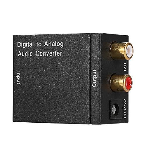 Socobeta Convertidor DAC Convertidor de Audio Digital a analógico Adaptador RCA con Cable óptico
