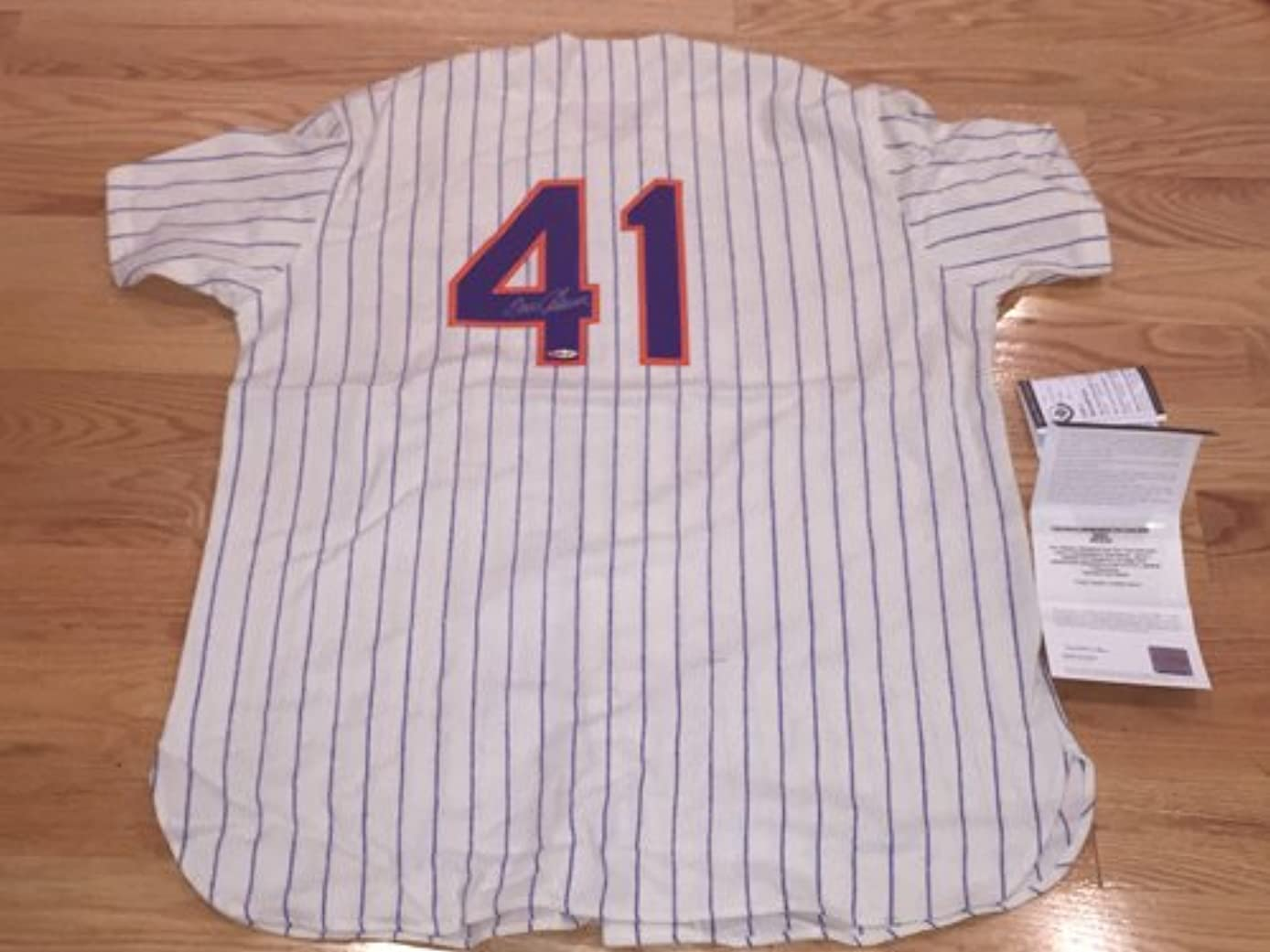 Tom Seaver Signed Autographed Mets Mitchell and Ness 100th Anniversary MLB Patch Grey N Y Mets Jersey UDA