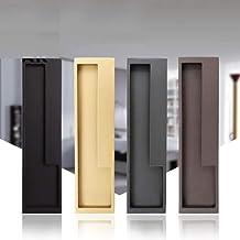 Zwart goud schuifdeur handvat verborgen deurgrepen binnendeur trekt kledingkast handvat keuken trekt deur hardware-ivoor