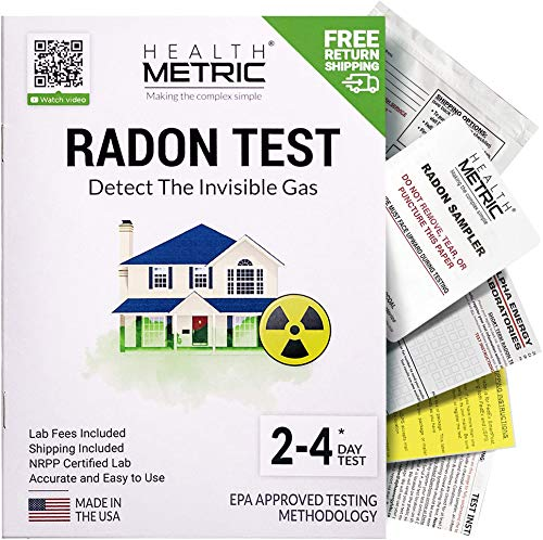 Radon Test Kit for Home - Shipping & Lab Fees Included   Easy to Use Charcoal Radon Gas Detector for Peace of Mind   48-96h Short Term EPA Approved Radon Tester   Protect Yourself and Your Family