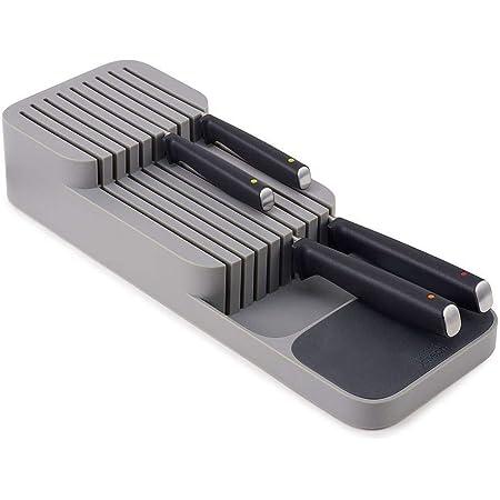 RXING Gris Range-Couverts Range Couteaux Tiroir, Ragement de Couteaux de Cuisine Universel