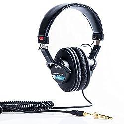 Casque studio fermé Impédance: 63 Ohm Bande passante: 10 - 20.000 Hz Fiches mini jack stéréo 3.5mm et jack stéréo 6.3mm