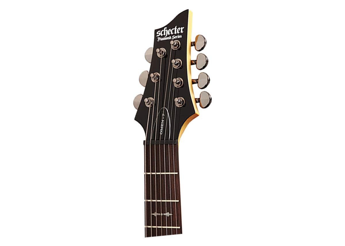 Schecter omen-7 (7 cuerdas Guitarra eléctrica, Negro: Amazon.es ...