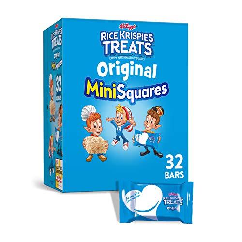 Kellogg's Rice Krispies Treats, Mini Squares, Crispy Marshmallow Squares, Original, 12.4oz Box(32 Count)