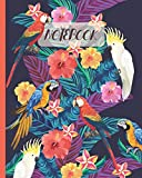 Notebook: Tropical Parrots Macaws & Cockatoos Drawing (Volume 2) - Lined Notebook, Diary, Track, Log & Journal - Cute Gift Idea for Boys Girls Teens Men Women (8'x10' 120 Pages)