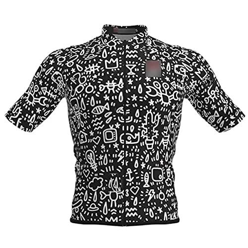 Transpirable manga corta Jersey hombres Racing camisa Road Ciclismo Top Ridewear secado rápido ciclismo MTB, Hombre, 1, 5XL
