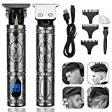 Electric Hair Clippers for Men Professional Outliner,2021 New Cordless Zero Gapped Trimmer Barber Accessories Grooming Waterproof Rechargeable Close Cutting T-Blade 0mm Bald Detail Beard Shaver
