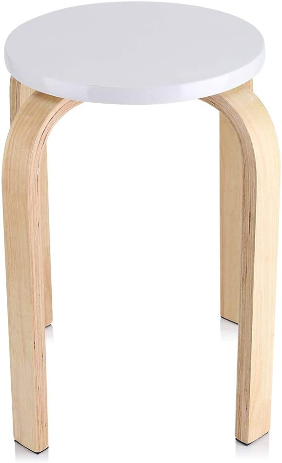 White Anti-Slip Bombing new work Backless Round Stackable Quality inspection Bentwood Stool Wo