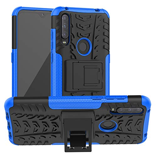 LFDZ Alcatel 3L 2020 Hülle,Abdeckung Cover schutzhülle Tough Strong Rugged Shock Proof Heavy Duty Hülle Für Alcatel 3L 2020 Smartphone(Not fit Alcatel 3L 2019),Blau