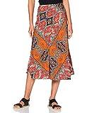 Marca Amazon - find. Falda Midi para Verano Mujer, Multicolor (Multi), 38, Label: S
