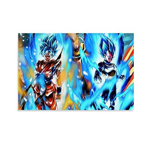 NENBN Dragonball Super Goku und Vegeta Leinwand-Kunst-Poster und Wand-Kunstdruck, modernes Familienschlafzimmerdekor, 40 x 60 cm