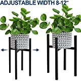 Adjustable Plant Stand, Angela&Alex Indoor Mid Century Plant Holder Modern Metal Planter Fits Medium & Large Pots Sizes for Indoor Outdoor Planters- Adjustable Width 7' to 12' (Pot Not Included)