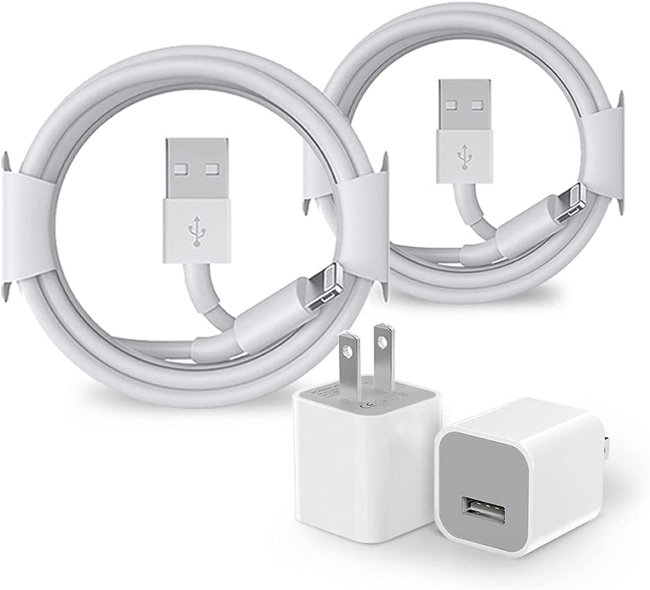 iPhone Charger,2 Set USB Wall Charger [Apple MFi Certified] Rapid Charging Cube Charger Box Travel Plug Cable Compatible with iPhone 6s/11 Pro Max/Xs Max/Xr/X/8/7/6/Plus/SE 2020/5s/5c and More
