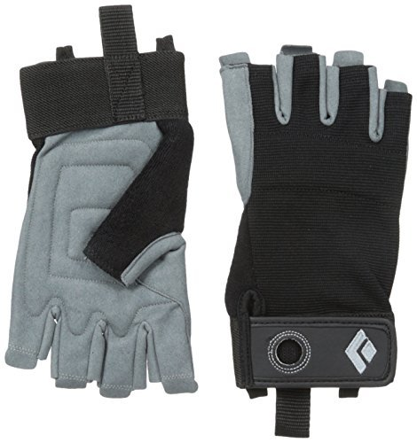 Black Diamond Erwachsene Handschuhe Crag Half Finger Gloves, Black, S