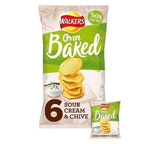 Walkers Baked Sour Cream & Schnittlauch Snacks 6 x 25 g