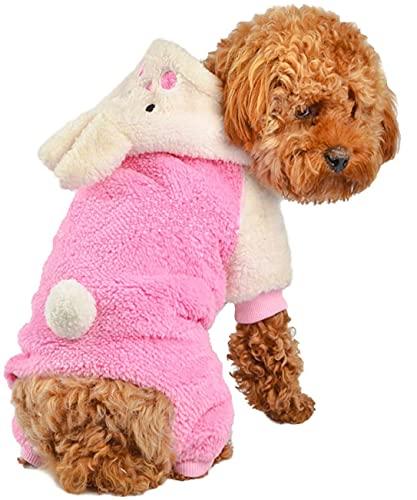 Adorable Bunny Halloween Dog Costumes Dog Hoodie Jumpsuit Dog Coat Pet...
