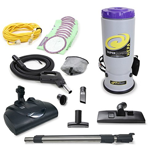 ProTeam Super QuarterVac Commercial Backpack Vacuum w/Wessel Werk Head