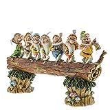 Disney Traditions, Figura de los 7 enanitos de 'Blancanieves' yendo a trabajar, para coleccionar, Enesco