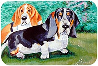 Caroline's Treasures 7061CMTBasset Hound Double Trouble Kitchen or Bath Mat, 20 by 30, Multicolor