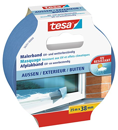 tesa 56251-00000-00 ecoLogo Maler Krepp Precision Outdoor Papierabdeckband, 25m : 38mm