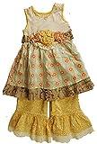 Mustard Pie Adorable Sweet Pea Olivia Dress Set (12-24m) (24 Months) Yellow