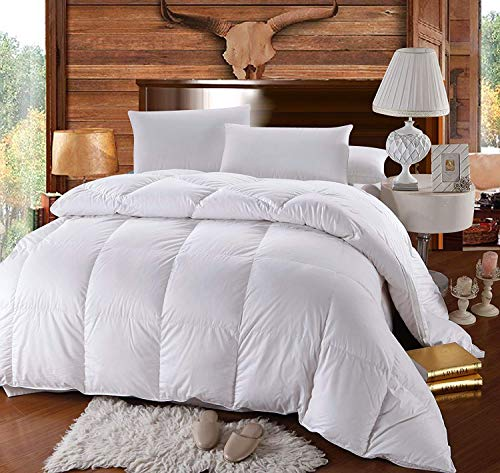 Twin / Twin XL Size Down-Comforter 500-Thread-Count Down Comforter 100 percent Cotton 500 TC – 750FP – 40Oz