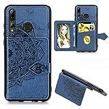 Étui de téléphone Portable Idéal for Huawei Honor 9X Mandala Tissu PU gaufrée magnétique + TPU...