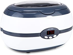 Ultrasonic Cleaner for Jewelry, Eyeglasses, Dentures with Digital Timer and Degas Mode, SQ VGT-2000 Grey