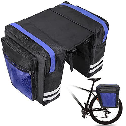 Fahrradtasche Gepäckträger Tasche,Fahrradtaschen für Gepäckträger wasserdichte Tasche für Fahrrad,Doppeltasche Fahrradtaschen,30L