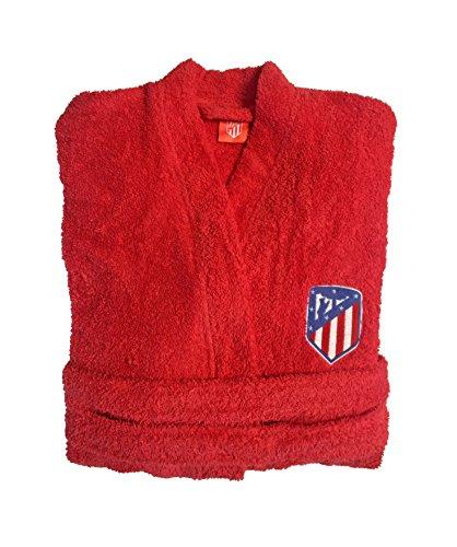 Atlético de Madrid Albornoz Oficial del Club - Algodón Rizo Americano Color Rojo Talla S