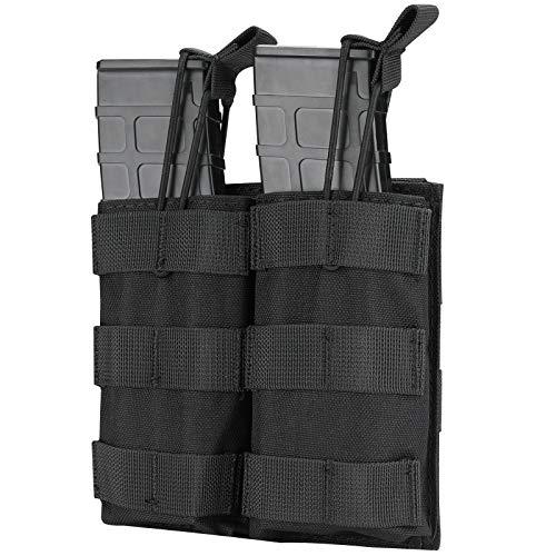 Procase Bolsa Táctica de Municiones, Carcuhera MOLLE para Cargador, Funda para Cargadores de Pistola, Porta Cartucho para Pistola de Rifle con Correas Elásticas para M4 M14 G36 HK416 –Negro