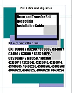 Super Easy Sticker type Reset chips - Drum and ITB reset chips for OKI C3100 C3200 C3300 C3400 C3450 C3600 C3520MFP C3530MFP MC350 MC360.