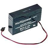 Multipower Bleiakku MP0.8-12H Heim und Haus 12 Volt 800mAh Kabel