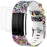AFUNTA Bracelet pour Fitbit Charge 2 avec Protecteurs d'écran, 1 Bande en...